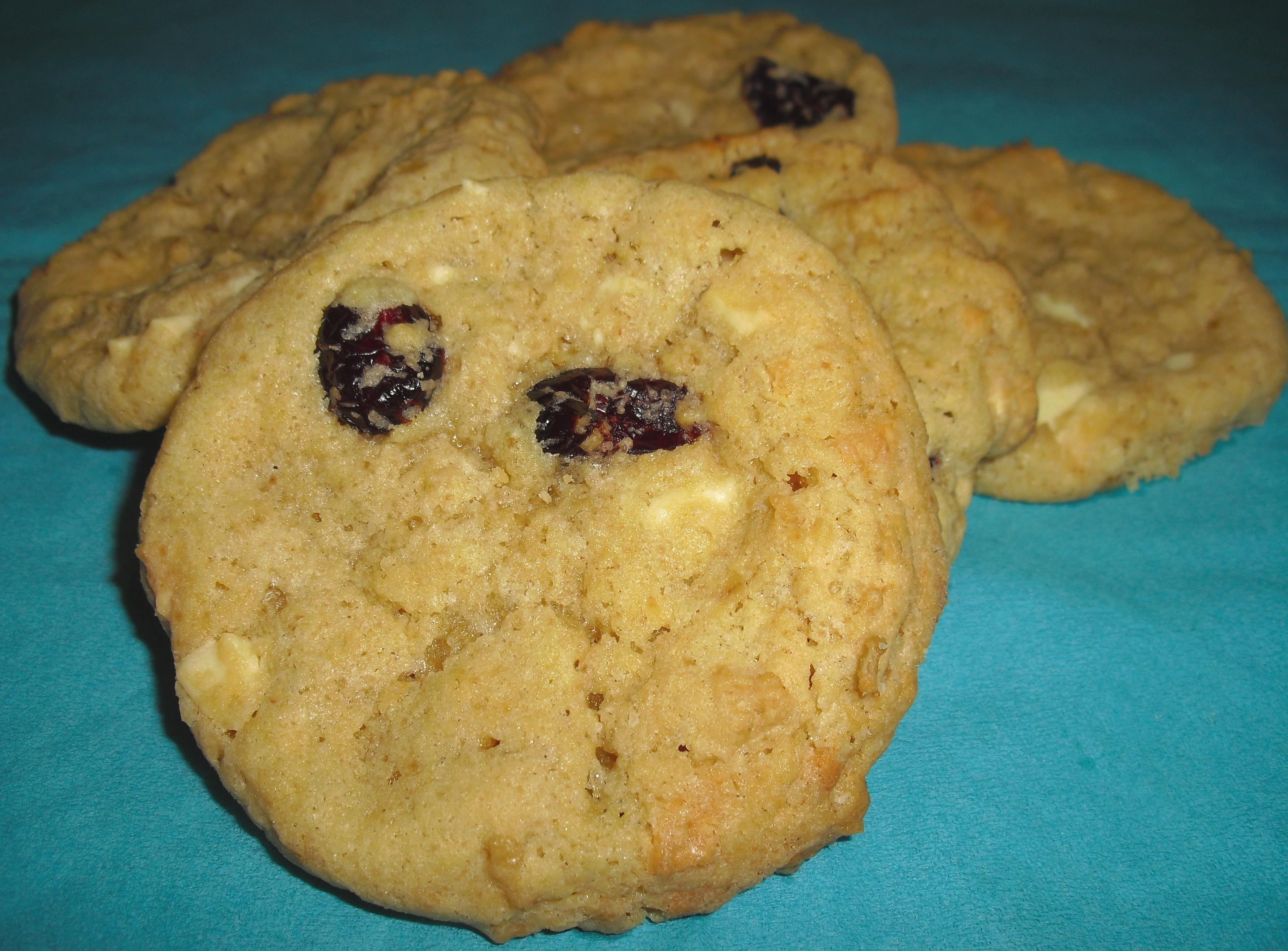 Cranberry Cookies mit weißer Schokolade