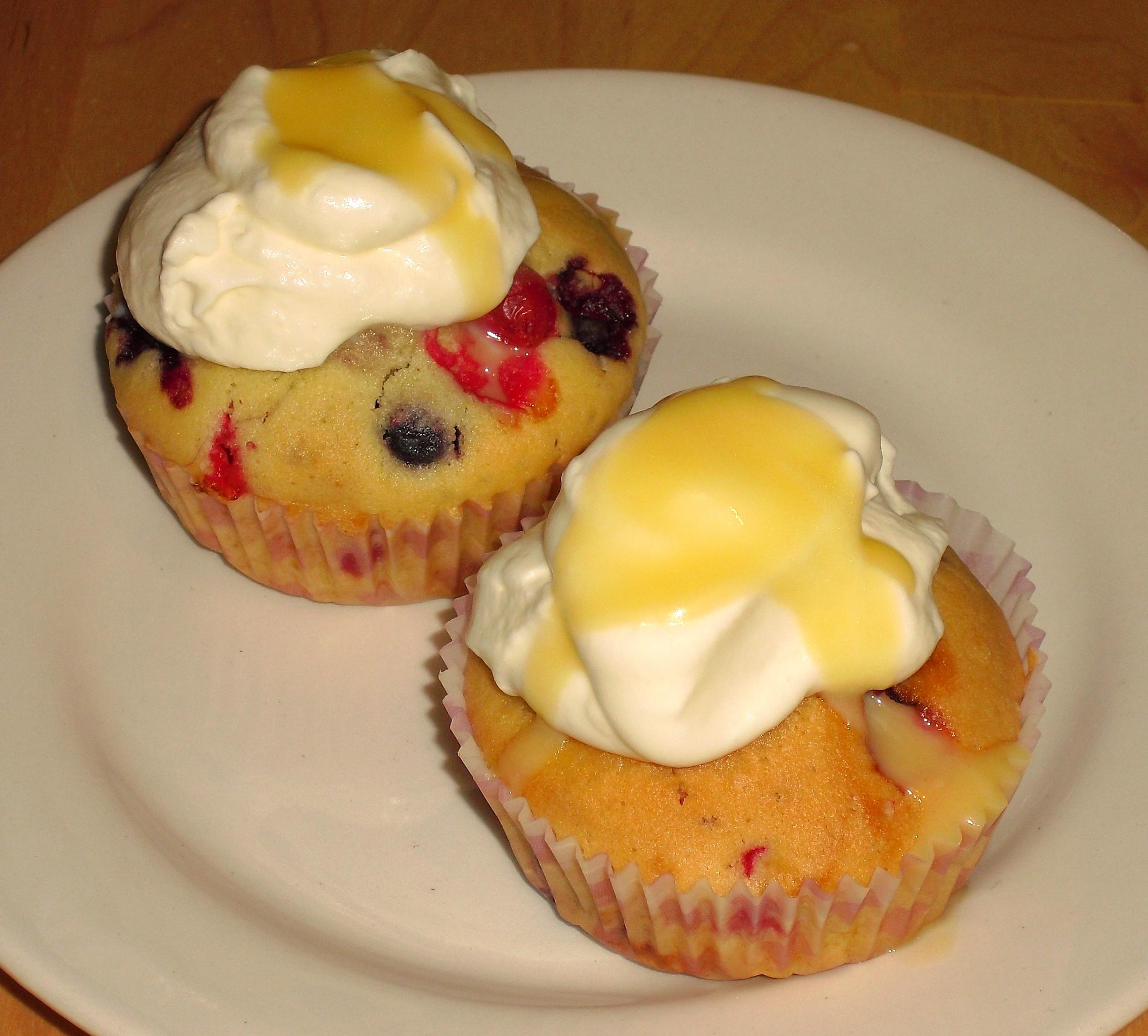 Eierlikör-Beeren-Muffins
